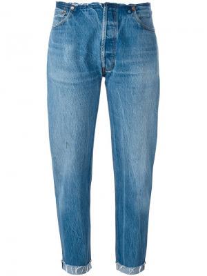 Свободные джинсы Re/Done. Цвет: синий