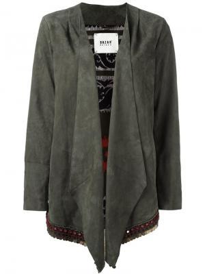 Куртка с драпировкой Bazar Deluxe. Цвет: зелёный