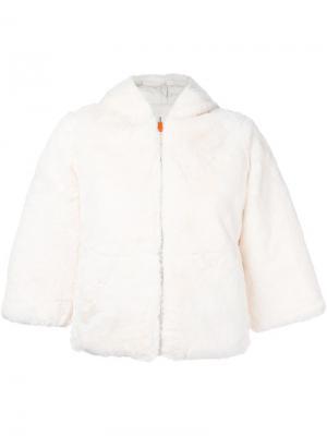 Куртка из искусственного меха с капюшоном Save The Duck. Цвет: белый