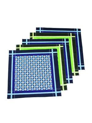 Платок, 10 шт Римейн. Цвет: синий, зеленый