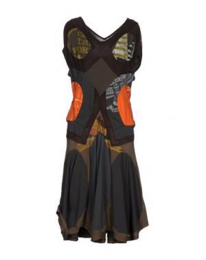 Платье до колена JUNYA WATANABE. Цвет: темно-коричневый