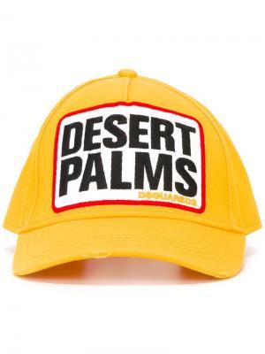 Бейсбольная кепка Desert Palms Dsquared2. Цвет: жёлтый и оранжевый