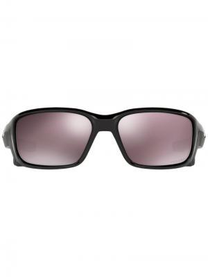 Солнцезащитные очки Straight Link Oakley. Цвет: чёрный