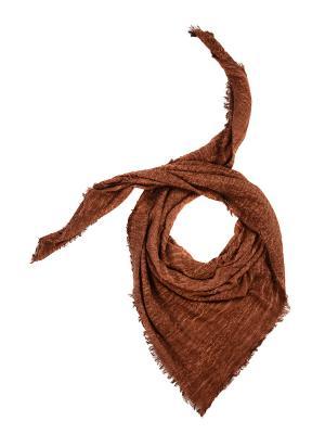 Платок LACCOM. Цвет: коричневый