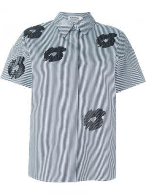 Рубашка с цветочным принтом Jil Sander. Цвет: синий