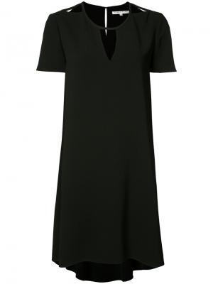 Платье с неравномерным подолом Trina Turk. Цвет: чёрный