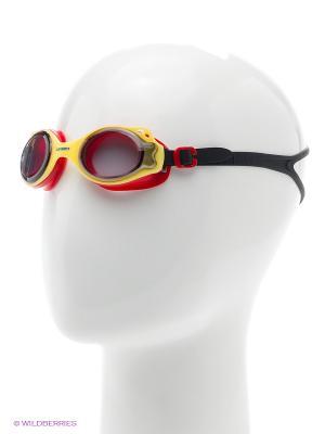Очки плавательные детские DS27 Larsen. Цвет: красный, желтый