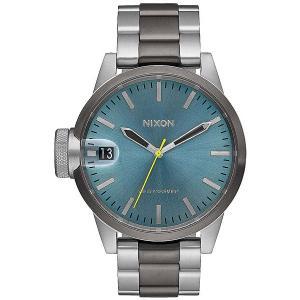 Кварцевые часы  Chronicle 44 Gunmetal/Aqua Sunray Nixon. Цвет: серый,голубой