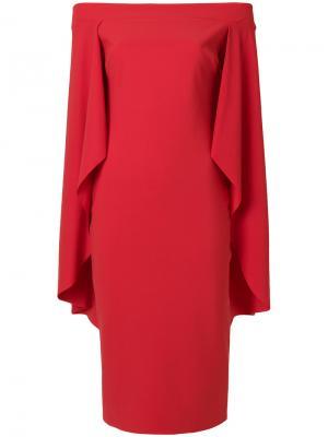 Платье-кейп Chiara Boni La Petite Robe. Цвет: красный