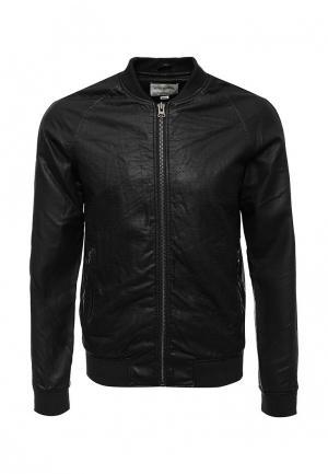 Куртка кожаная Shine Original. Цвет: черный