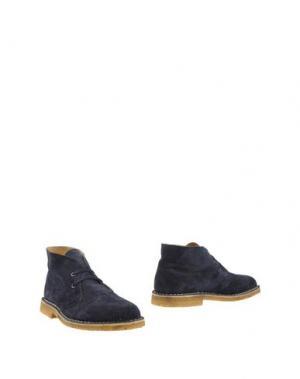 Полусапоги и высокие ботинки ALBERTO MORETTI. Цвет: темно-синий