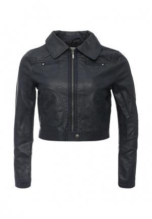 Куртка кожаная Urban Bliss. Цвет: синий