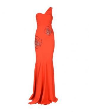 Длинное платье ROLAND MOURET. Цвет: красный