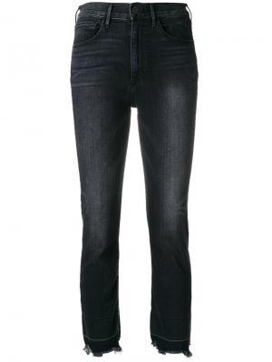 Прямые укороченные джинсы 3X1. Цвет: серый