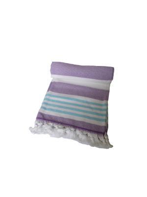 Полотенце СПА TOALLA. Цвет: лиловый, белый, голубой