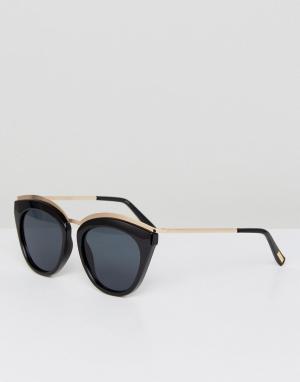 Le Specs Черные солнцезащитные очки кошачий глаз Eye Slay. Цвет: черный