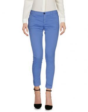 Повседневные брюки RRD. Цвет: пастельно-синий