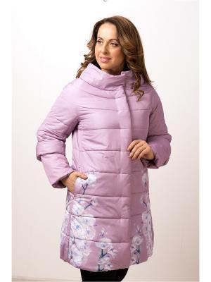 Стеганое пальто ДушеГрея. Цвет: розовый