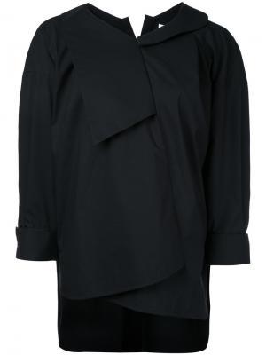 Cropped asymmetric hoodie Enföld. Цвет: чёрный