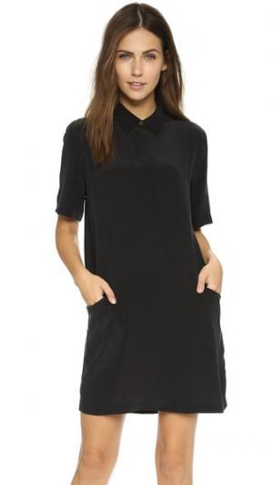 Платье Larkin Equipment. Цвет: настоящий черный