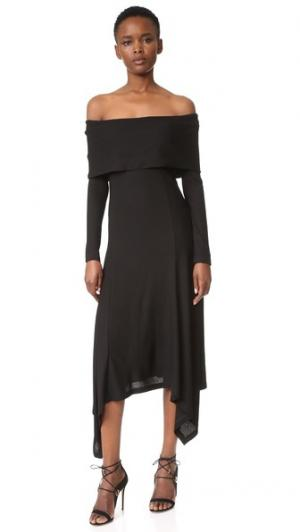 Платье с открытыми плечами Derek Lam. Цвет: голубой