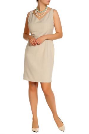 Платье-сарафан Dioni. Цвет: бежевый