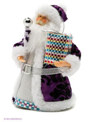 Дед Мороз под елку 15 см, фиолет. Новогодняя сказка. Цвет: белый, фиолетовый