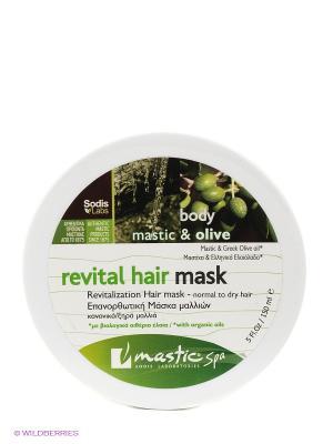 Маска для волос восстанавливающая Revital hair mask Mastic Spa. Цвет: зеленый