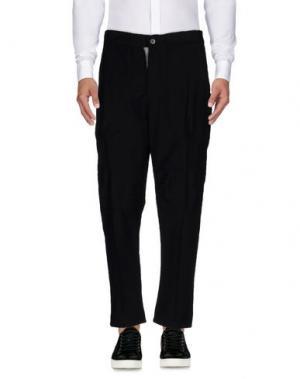 Повседневные брюки MANOSTORTI. Цвет: темно-синий