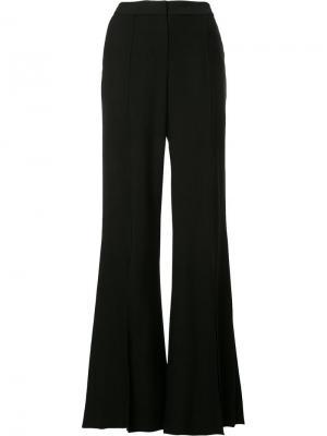 Расклешенные брюки со шлицами Hellessy. Цвет: чёрный