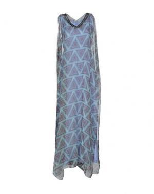 Длинное платье KORALLINE. Цвет: бирюзовый