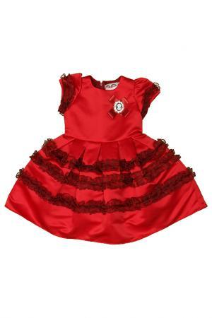 Платье Diamond Lady. Цвет: красный