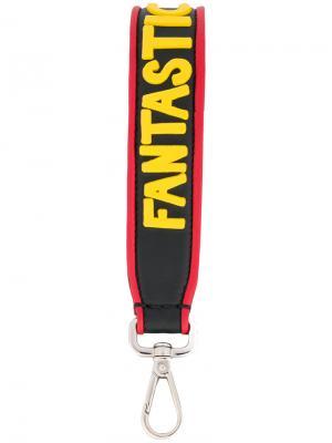 Лямка для ключей Fantastic Fendi. Цвет: чёрный