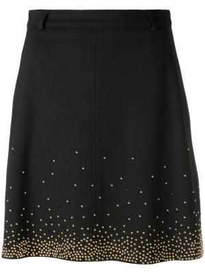 Декорированная юбка Versace Jeans. Цвет: чёрный