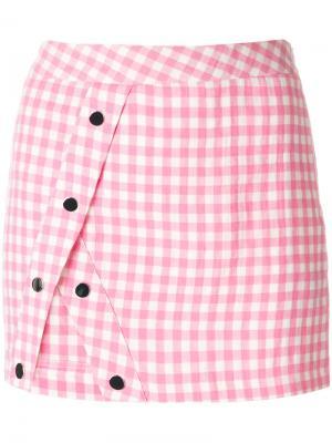 Мини-юбка Penelope Filles A Papa. Цвет: розовый и фиолетовый
