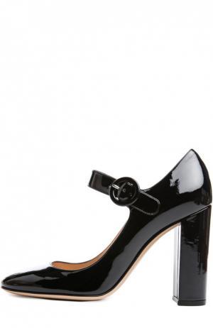 Лаковые туфли Lorraine с ремешком Gianvito Rossi. Цвет: черный
