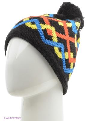 Шапка BUFF KNITTED HATS RIGER BLACK. Цвет: черный