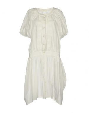 Платье до колена ZUCCA. Цвет: белый