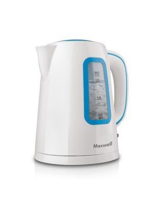 Чайник электрический Maxwell MW-1052(B). Цвет: синий, белый