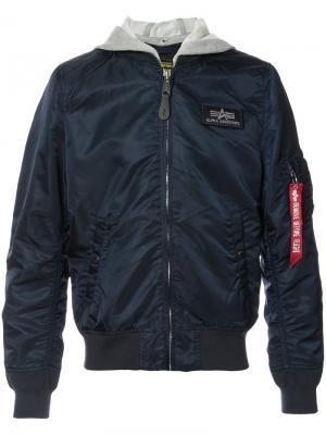 Куртка с капюшоном L-2B Alpha Industries. Цвет: синий