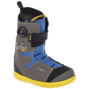 Ботинки для сноуборда детские  Junior Multi Deeluxe. Цвет: серый,синий,желтый