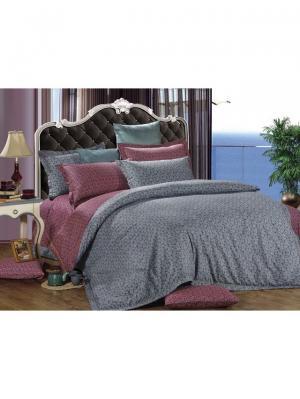 Комплект постельного белья ROMEO AND JULIET. Цвет: бордовый, темно-серый