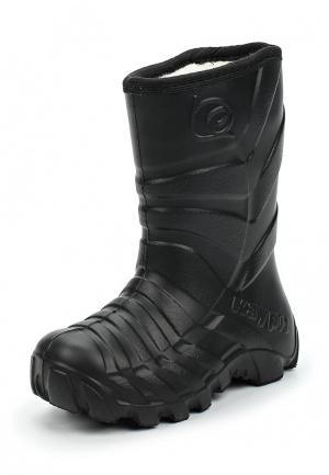 Резиновые сапоги Каури. Цвет: черный