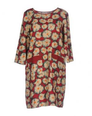 Короткое платье GAZEL. Цвет: красно-коричневый