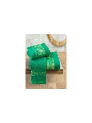 Набор махровых полотенец Арт Постель. Цвет: зеленый