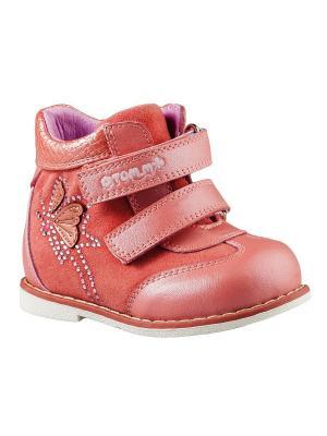 Ботинки ТОМ.М. Цвет: красный