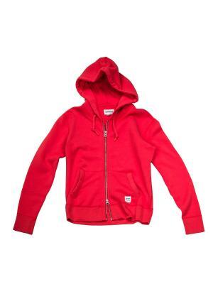 Толстовка Knitted womens LS zip hoodie Converse. Цвет: оранжевый