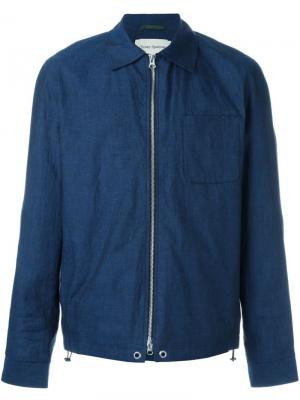 Куртка Dover Zip-up Chambray Oliver Spencer. Цвет: синий