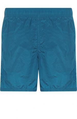Однотонные плавки-шорты Stone Island. Цвет: голубой