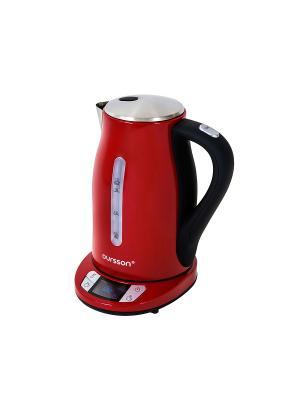 Электрический чайник. OURSSON. Цвет: красный